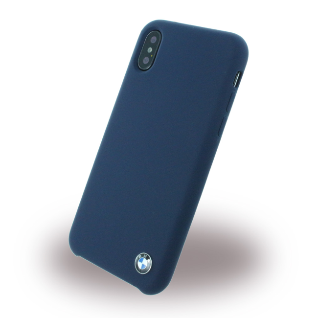 Image of   BMW - Signature - Silicone Cover - Apple iPhone X - Navy