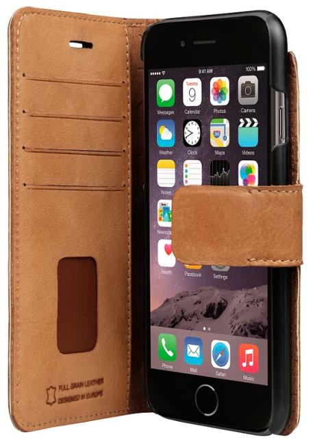 Image of   bugatti Booklet case Zurigo for iPhone 6/6s cognac