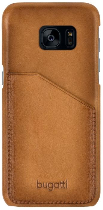 Image of   Bugatti Londra cover til Samsung Galaxy S8 Cognac/Brun med Dankort lomme