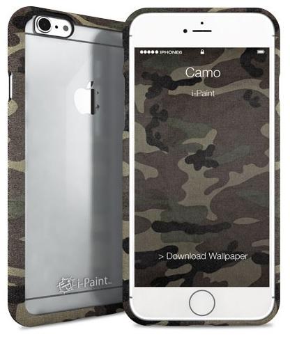 Billede af Apple iPhone 6 / 6S med gennemsigtig bagside i-Paint Ghost Camo