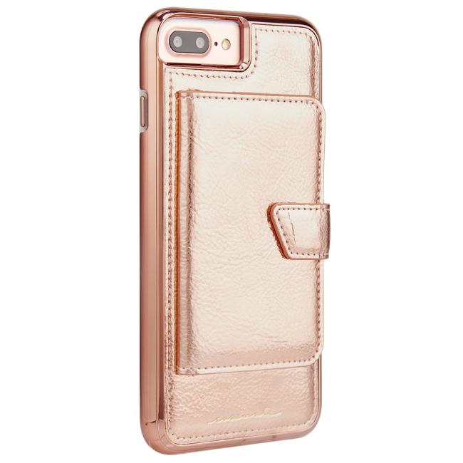 Billede af Case-Mate Compact Mirror iPhone 8+/7+/6s+ : Case-Mate Compact Mirror iPhone 8+/7+/6s+ Rose Gold