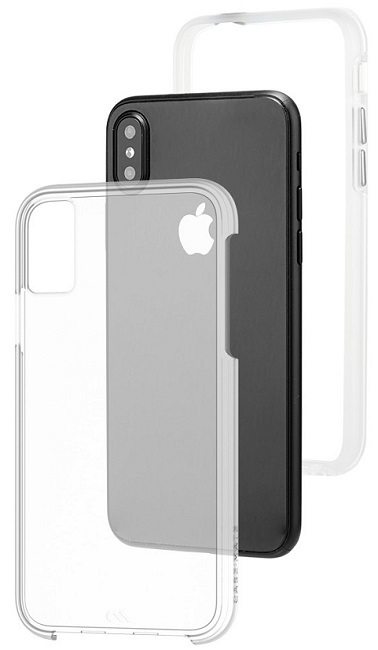 Image of   Case-mate Naked Tough Cover til iPhone X Clear/Transparent