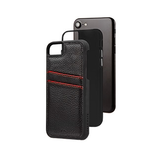 Image of   Case-Mate Tough ID Læder Cover iPhone 8/7/6S Sort