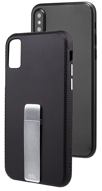 Image of   Case-Mate Tough Stand cover iPhone X Sort/Sølv