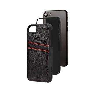 Billede af Case-Mate Tough ID Læder Cover iPhone 8/7/6S Sort