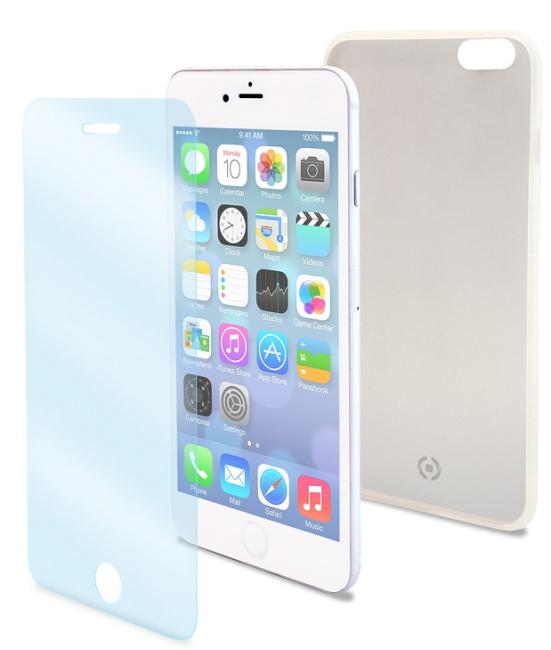 Image of   CELLY BUNDLE IPHONE 7 Silikone cover og panserglas
