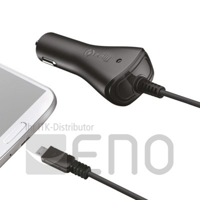 Image of   Celly Car Charger 1A Micro USB black