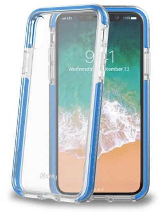 Image of   CELLY HEXAGON COVER (IPHONE X/XS LIGHT BLUE)