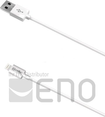 Image of   Celly Lightning to USB Cable 20 Meter MFI white