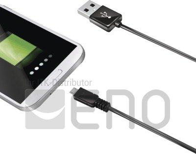 Image of   Celly USB-Datenkabel für Geräte mit Micro-USB Anschluss (1 m) black