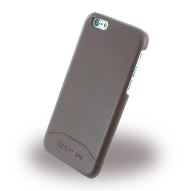 Image of   Cerruti 1881 - CEHCP6SLBR - Smooth Split - Leatherette Hard Case / Hard Cover - Apple iPhone 6 6s - Brown