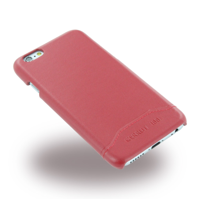 Image of   Cerruti 1881 - CEHCP6SLRE - Smooth Split - Leatherette Hard Case / Hard Cover - Apple iPhone 6 6s - Red