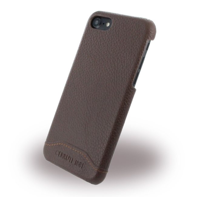 Image of   Cerruti 1881 - CEHCP7GRLBR - Leather Hard Cover - Apple iPhone 7 8 - Brown