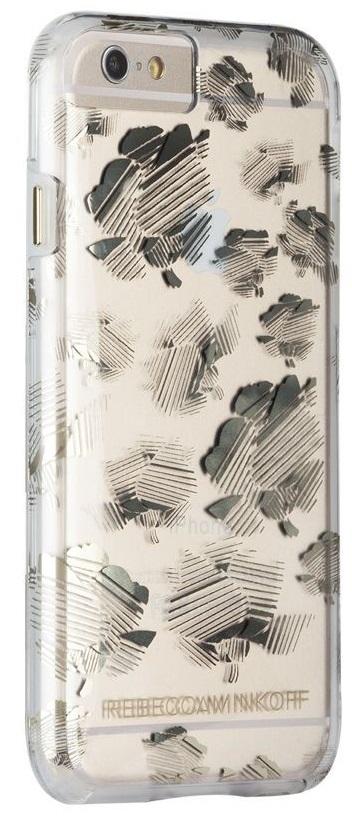 Billede af Case-Mate Rebecca Minkoff Blomster cover iPhone 6/6S/7 Transparent/Guld