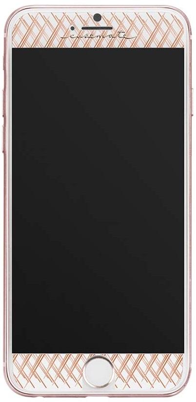 Billede af Case-Mate mønstret panserglas til iPhone 7/6s/6 rose gold