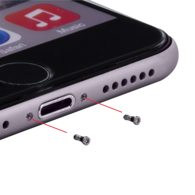 Image of   Cyoo - 10pcs Case Screws - Apple iPhone 7 7 Plus - Silver