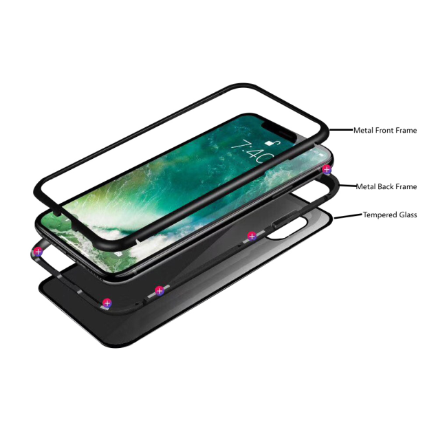 Image of   Cyoo - Magnet Case - Apple iPhone 7 and iPhone 8 - Black