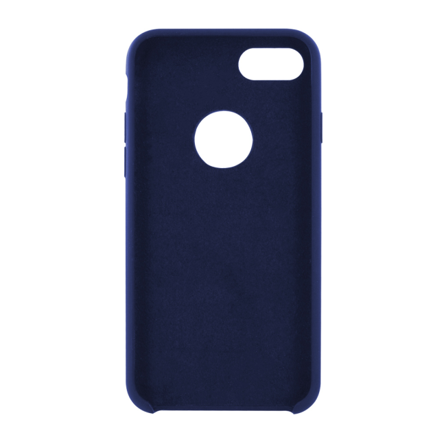 Image of   Cyoo - Premium Liquid Silicon Hard Cover - iPhone 7 - iPhone 8 - Midnight Blue