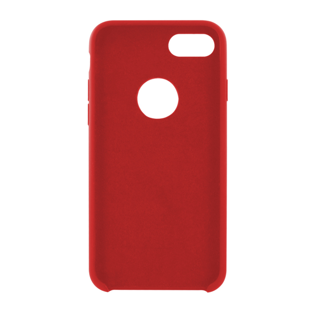 Image of   Cyoo - Premium Liquid Silicon Hard Cover - iPhone 7 - iPhone 8 - Red