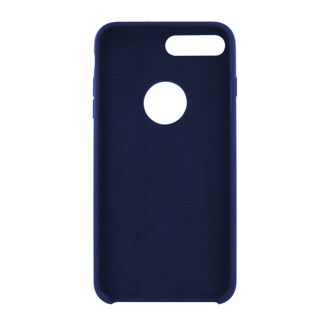 Image of   Cyoo - Premium Liquid Silicon Hard Cover - iPhone 7 Plus - iPhone 8 Plus - Midnight Blue