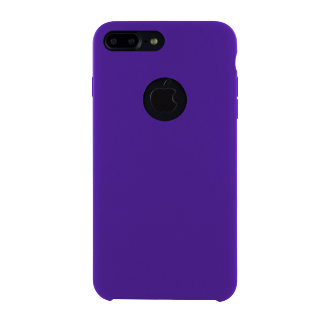 Image of   Cyoo - Premium Liquid Silicon Hard Cover - iPhone 7 Plus - iPhone 8 Plus - Purple