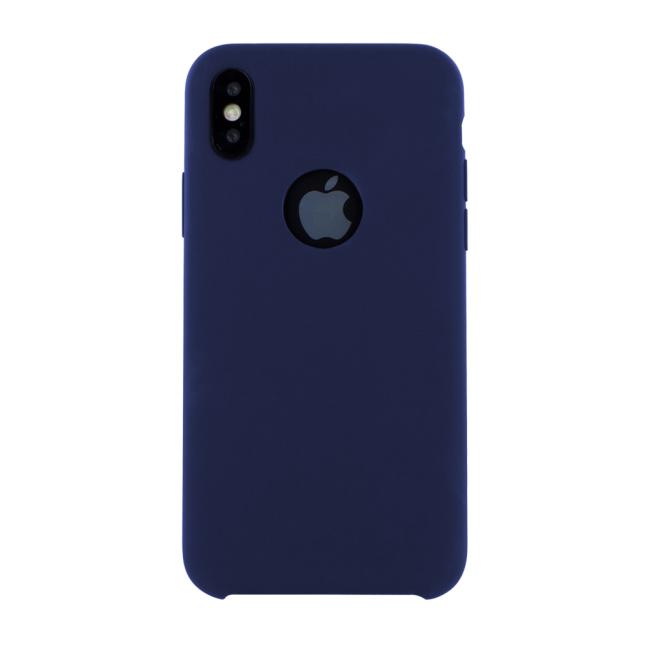 Image of   Cyoo - Premium Liquid Silicon Hard Cover - iPhone X - Midnight Blue