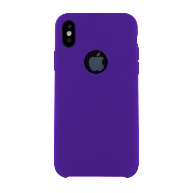 Image of   Cyoo - Premium Liquid Silicon Hard Cover - iPhone X - Purple