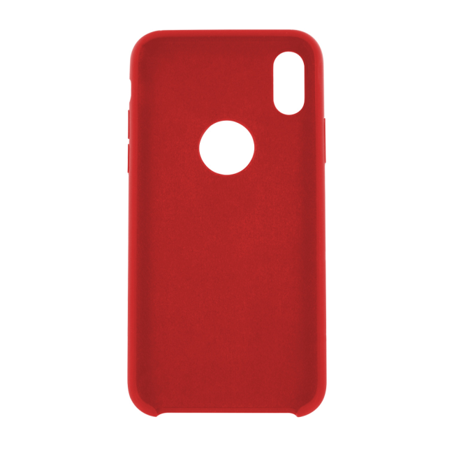 Image of   Cyoo - Premium Liquid Silicon Hard Cover - iPhone X - Red