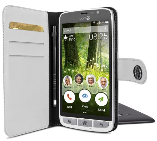 Billede af Doro Liberto 825 Smart magnetisk wallet cover Hvid