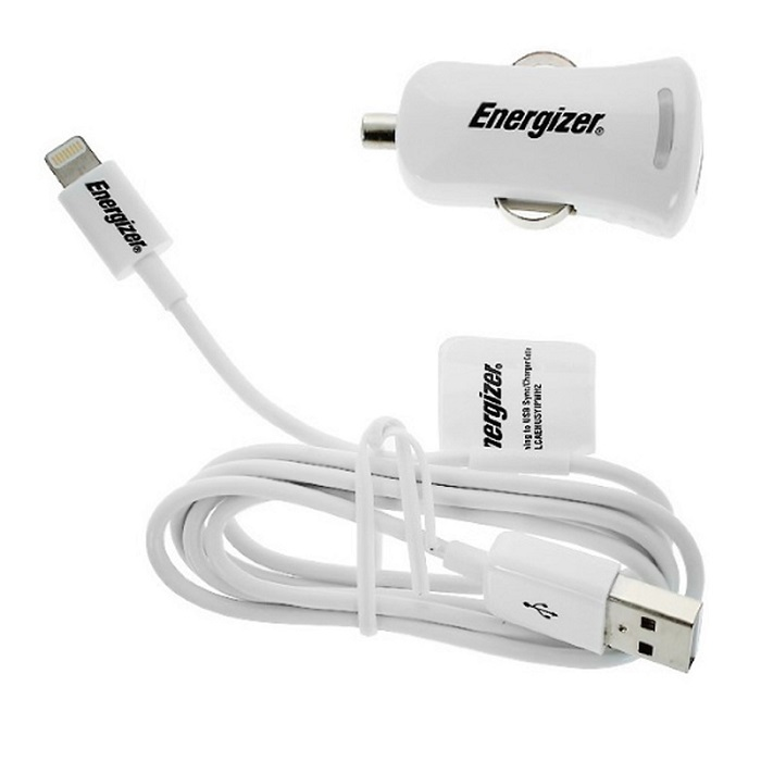 Image of   iPhone og iPad 2.1 Amp billader med Lightning stik fra Energizer