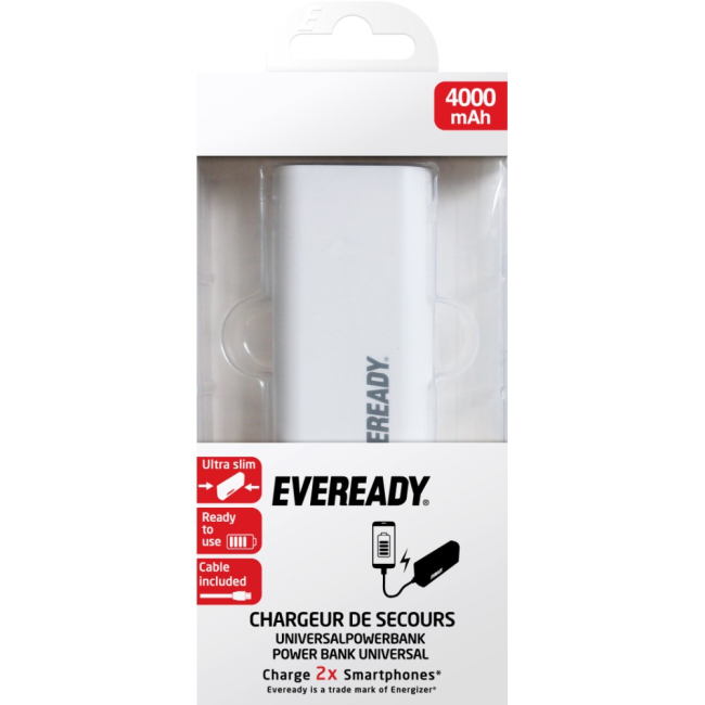 Image of   Energizer Eveready Powerbank 4000 mAh White