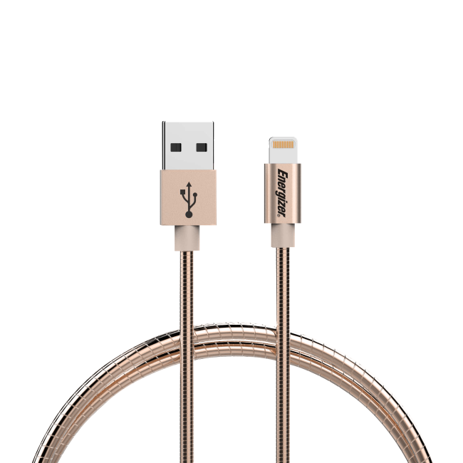 Energizer Lightning cable 12m Metal Sleeve champagne gold
