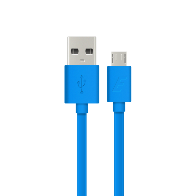Image of   Energizer Micro USB cable flat 12m blue