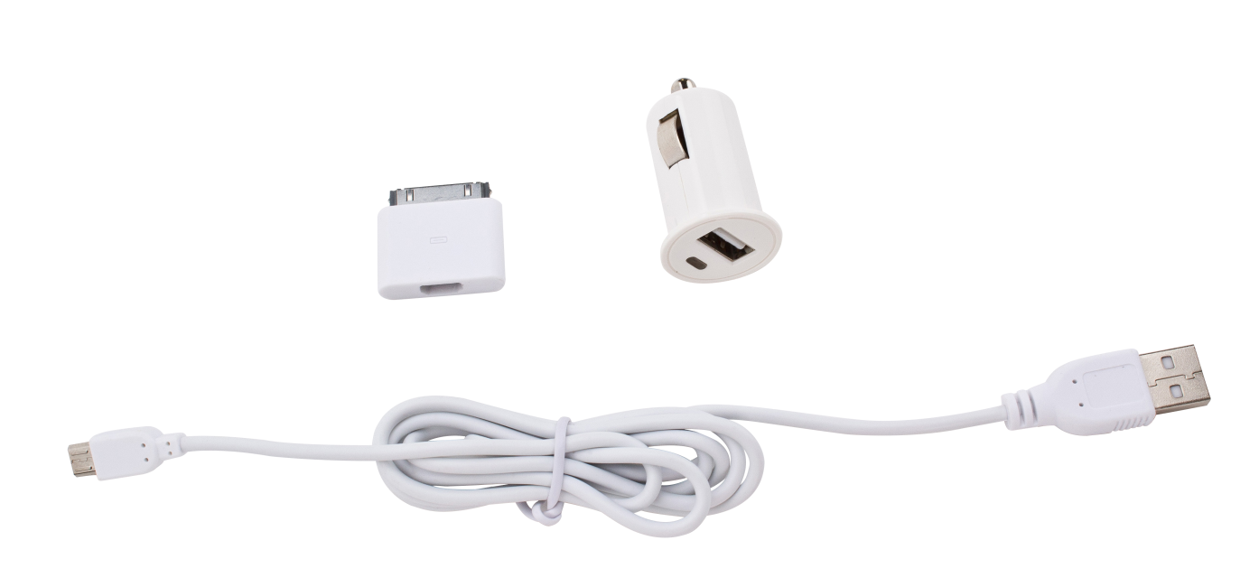 Billede af Enjoy Car Charger 1A 30pin +microUSB cable white