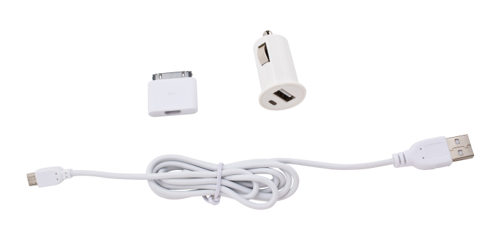Image of   Enjoy Car Charger 1A 30pin +microUSB cable white