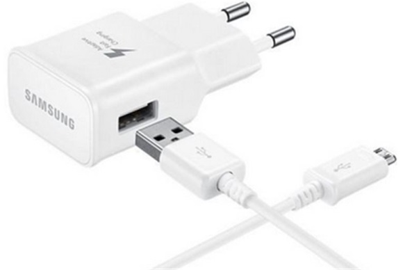 Billede af Samsung Fast Charge EP-TA20EWE - USB hurtigoplader+ MicroUSB datakabel