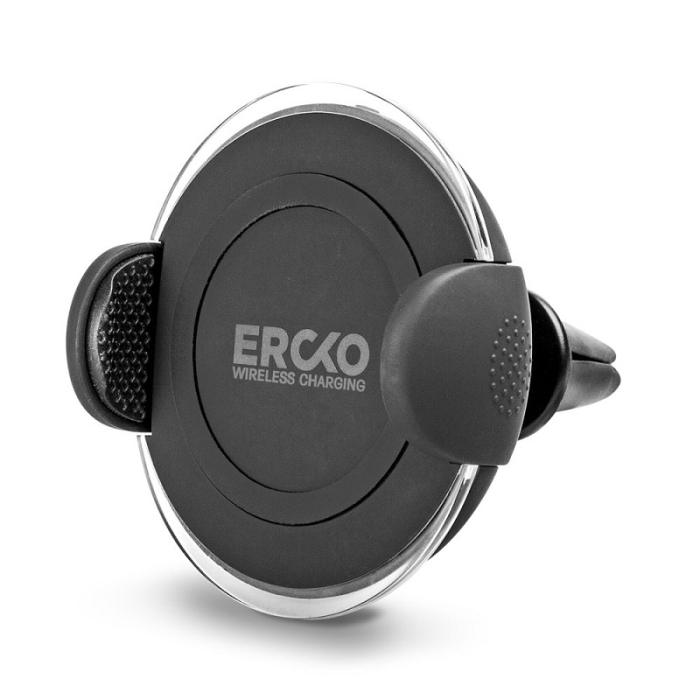 Image of   ERCKO WIRELESS CAR CHARGER (BLACK)