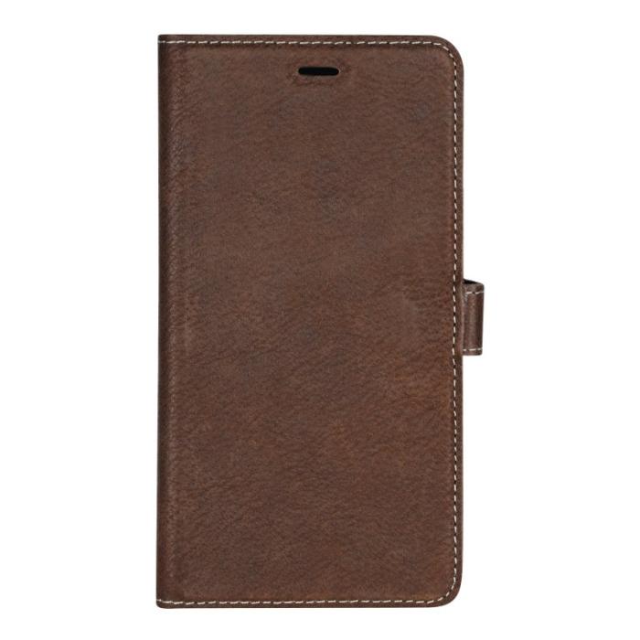 Image of   Essentials 2-i-1 Leather Wallet i ægte læder til Apple iPhone XR - Brun