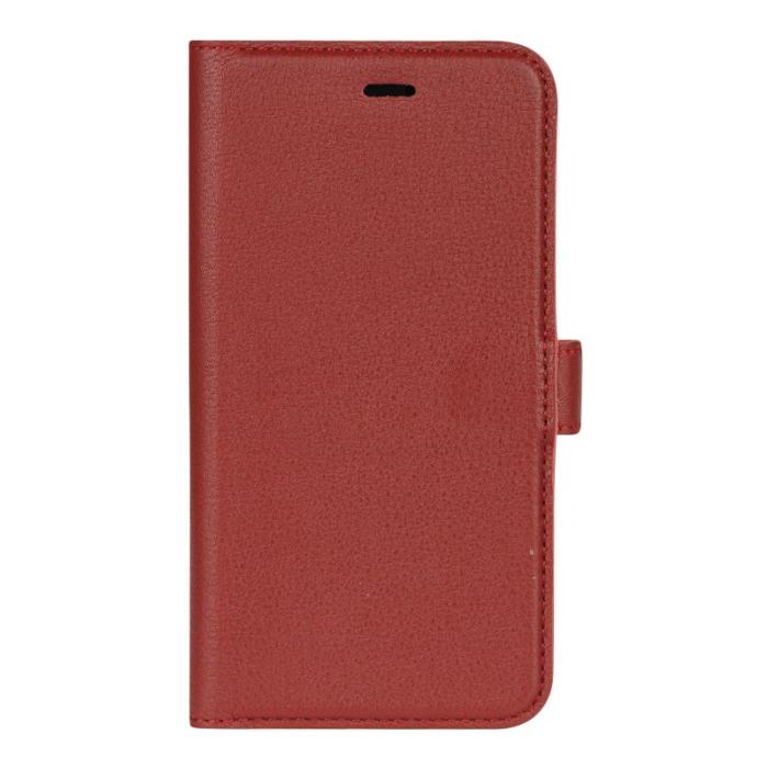 Image of   Essentials 2-i-1 Leather Wallet i ægte læder til Apple iPhone XR - Rød