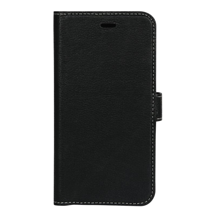 Image of   Essentials 2-i-1 Leather Wallet i ægte læder til Apple iPhone XR - Sort