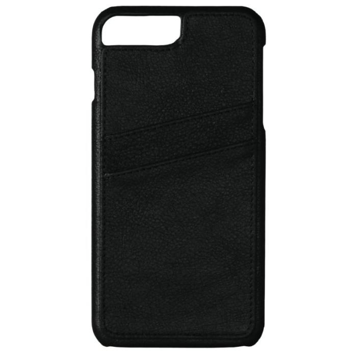 Image of   Essentials Apple iPhone 6/6S/7/8 Læder Cover med kortholder - Sort