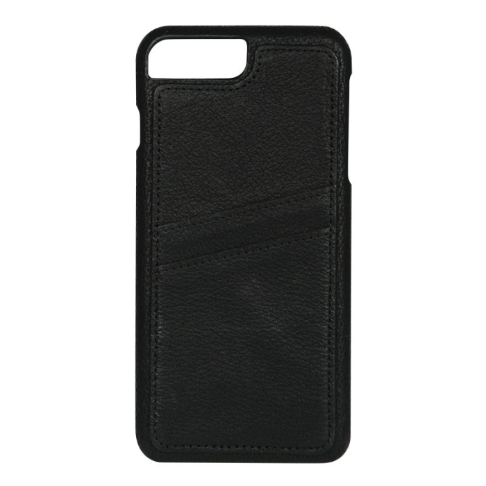 Image of   Essentials Apple iPhone 6 Plus/6S Plus/7 Plus/8 Plus Læder Cover med kortholder - Sort