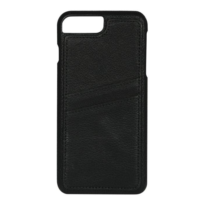 Image of   Essentials Apple iPhone 6S Plus/7 Plus Læder Cover med kortholder - Sort