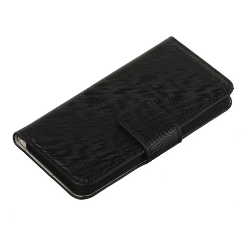 Image of   Essentials Booklet Cover iPhone 5/5S w/creditcard holder Blk