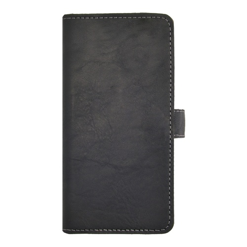 Image of   Essentials Leather Wallet i ægte læder til Apple iPhone 5/5S/SE - Sort