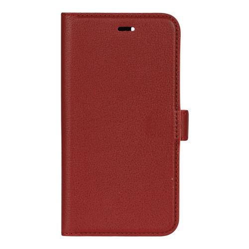 Image of   Essentials Leather Wallet i ægte læder til Apple iPhone 6/6S/7/8 - Rød