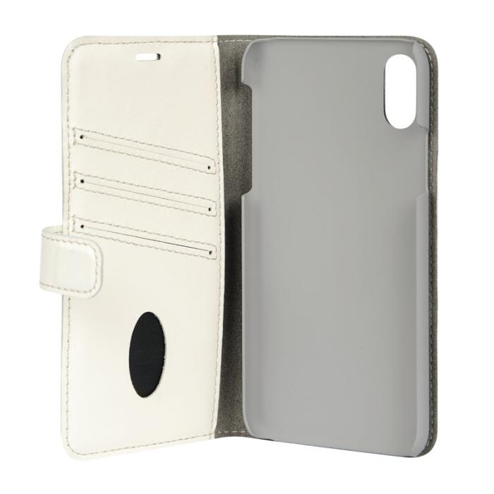 Image of   Essentials Leather Wallet i ægte læder til Apple iPhone X/XS - Hvid