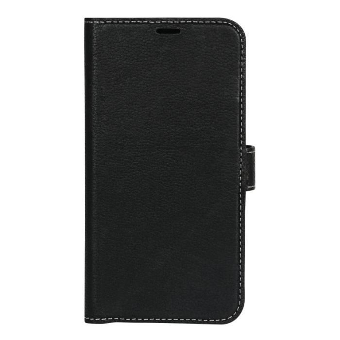 Image of   Essentials Leather Wallet i ægte læder til Huawei P20 Lite - Sort