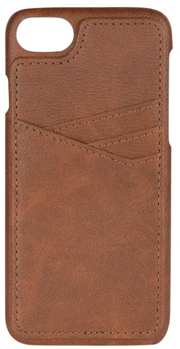 Image of   Essentials PU triple card cover til Apple iPhone 6/6S/7/8 Brun