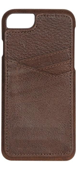 Image of   Essentials PU triple card cover til Apple iPhone 7 Brun Sort